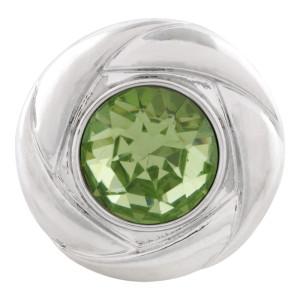 20MM snap Aug. birthstone green KC5682 broches intercambiables joyería