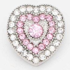 20MM snap Love sliver Plaqué de strass KC6726 s'encliquette des bijoux