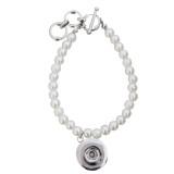 Les boutons 1 enfoncent des perles en métal 21CM et des perles. Les bracelets KC0803 s'adaptent à 18 et 20MM se cassent des morceaux