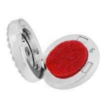 22mm weiße Legierung Love Aromatherapie / Ätherisches Öl Diffusor Parfüm Medaillon Snap mit 1pc 15mm Scheiben als Geschenk