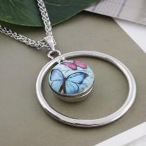 Papillon 20MM Boutons-pression en métal peint C5077 imprimé boutons-pression bijoux