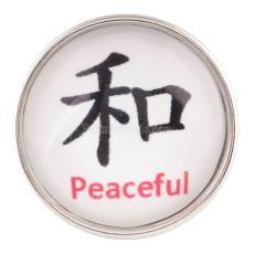 20MM snap glass Caracteres chinos: pacífico KC2146 broches intercambiables joyería