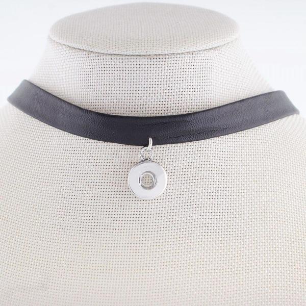 26CM Collar de cuero KS0930-S fit 12mm trozos broches joyería