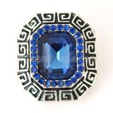 20MM Broche irregular Plateado plata antigua con diamantes de imitación azules KB8194 broches de joyería