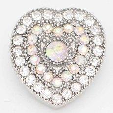 20MM snap Love sliver Plaqué de strass colorés KC6727 s'encliquette des bijoux