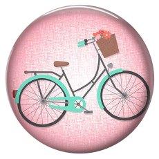 20MM vélo peint émail rose métal C5838 impression boutons pression bijoux