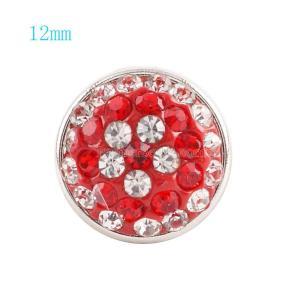 Кнопка 12mm с красным стразами KS2702-S ювелирные изделия