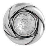 20MM snap Apr. birthstone blanco KC5607 broches intercambiables joyería
