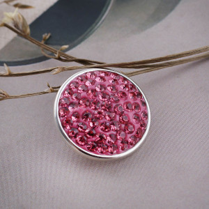 18mm Sugar snaps Alloy with rose rhinestones KB2309 snaps jewelry