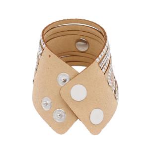 Partnerbeads 21CM коричневые кожаные браслеты подходят 18 / 20MM защелки кусочки KC0294 защелки украшения