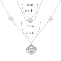 Pendant Necklace with pearls 70CM and 30cm chain KC1089 20MM chunks snaps jewelry