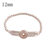 brazalete de aleación Pulseras de oro rosa Fit 12mm broches KS1137-S joyas