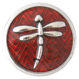 20MM Dragonfly snap Plateado con esmalte KB7709 broches de joyería