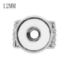 rhinestone fittings for silver-plated belt of ultrasonic stethoscope Pendant fit 12MM snaps style jewelry KS0371-S