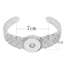 High Quality metal bracelet(Non adjustable) fit 18&20MM snaps chunks 1 buttons snaps Jewelry