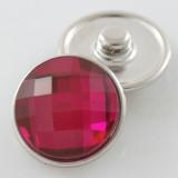 18MM complemento de aleación de cristal rojo rosa facetado KB2701-AK broches intercambiables