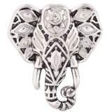 20MM Elephant Snap Antik Silber vergoldet mit Strass und weißem Emaille KC7374 austauschbaren Snaps Schmuck
