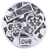 20MM valentine Loveheart round snap Antique Silver Plated KC6173 snaps jewelry