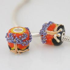 13*14mm partner S925 murano lampwork glass beads mother