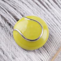 20MM Snap de tennis plaqué argent avec émail jaune KC6084 s'encliquette bijoux
