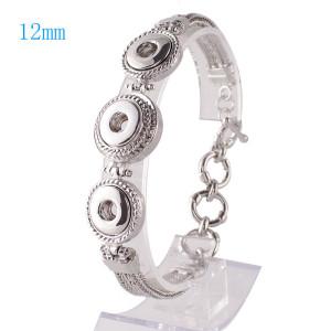 23CM 1 buttons snaps metal bracelet fit 12mm snaps chunks