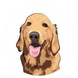 20MM perro Pintado esmalte metal C5257 estampado broches joyería
