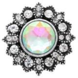 Diseño 20MM de plata chapada con diamantes de imitación blancos KC6921 broches de joyería