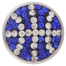 18mm Sugar snaps Alloy with blue rhinestones KB2419 snaps jewelry