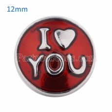 12mm snaps Silver Plated with red enamel KS5043-S snap jewelry