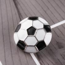 20MM Snap de football plaqué argent avec émail KC6081 s'encliquette bijoux