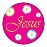 20MM Jesus Painted rose-red enamel metal C5389 print snaps jewelry