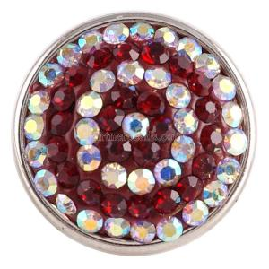 snaps button with red rhinestone KC2743 snaps jewelry