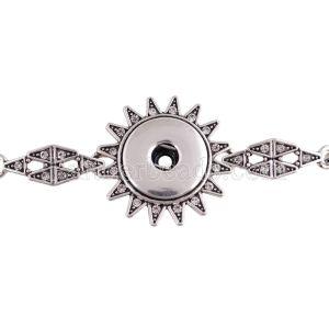 Pulsera de metal de alta calidad con diamantes de imitación 23CM fit 18 y 20MM broches de presión 1 botones broches de joyería