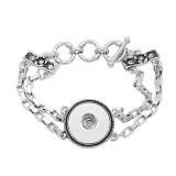 1 button adjustable chain with diamond vintage bracelet KC0807