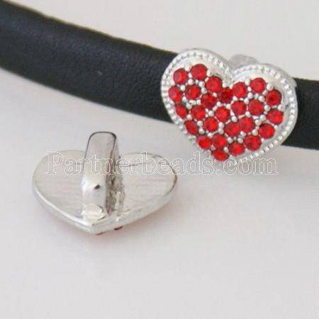 Changeable Charm with Rhinestones - love