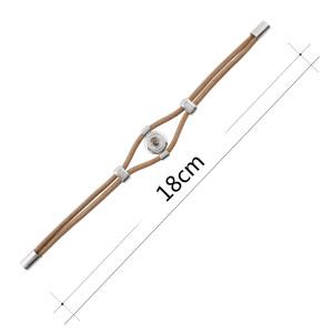 18CM коричневые браслеты из натуральной кожи KS1173-S подходят Кусочки 12MM защелкиваются