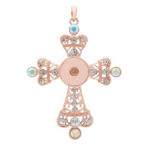 Necklace Pendant no chain and diamond button rose gold are suitable for 18 and 20mm large jewellery.