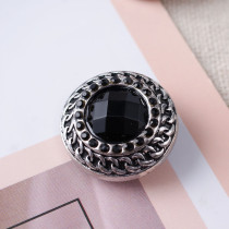 20MM enfonce des morceaux avec des bijoux interchangeables en strass noir