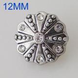 12MM Roud snap Серебро с покрытием со стразами KB5529-S оснастки ювелирные изделия