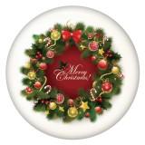 20MM Navidad esmaltado pintado C5494 estampado broches joyería