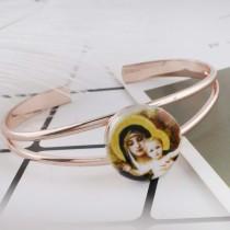 20MM mother Painted enamel metal C5248 print snaps jewelry