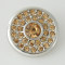 20MM Round snap Silver Plated with yellow  rhinestone KB5100 snaps jewelry