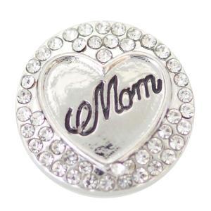 La mamá 20MM se ajusta plateada con diamantes de imitación blancos KB6861 se ajusta a la joyería