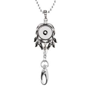 Высокое качество крючок ожерелье Badge ID держатель ID с цепью 80CM подходят 18 и 20mm куски оснастки ювелирные изделия