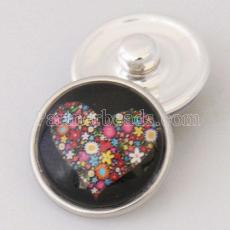 20MM Saint Valentin Snap Glass Loveheart KB2508-AI Snaps interchangeables bijoux