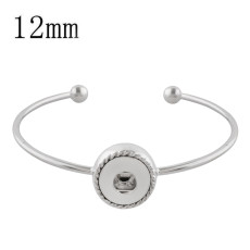 1 buttons snap sliver bracelet fit 12MM snaps style jewelry KS1185-S