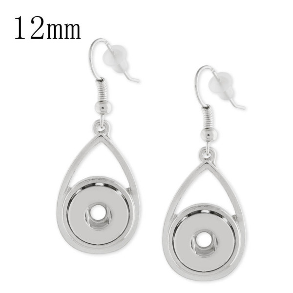 Snaps metal earring KS1131-S fit 12mm chunks snaps jewelry