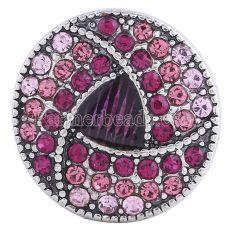 20MM Круглая защелка Античное серебро с покрытием розово-красные стразы KC6018 оснастки ювелирные изделия