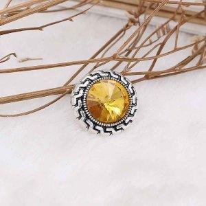 20MM snap Nov. birthstone amarillo KC6584 broches intercambiables joyería