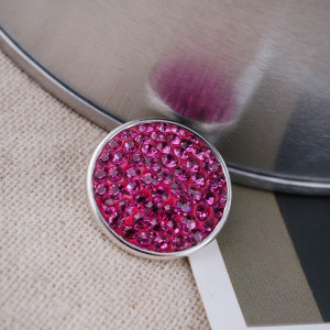 18mm Sugar snaps Alloy with rose rhinestones KB2314 snaps  jewelry